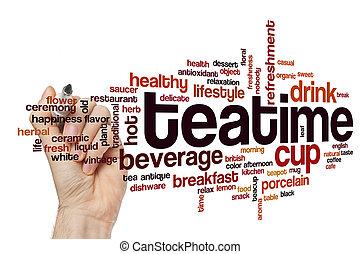 Teatime word cloud concept