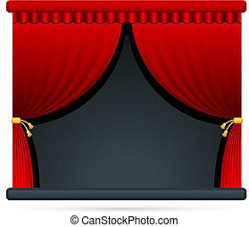 teatr, film, rusztowanie