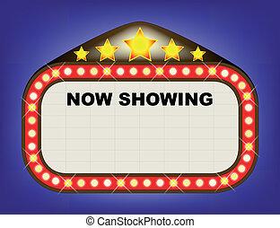 teatr filmu, duży namiot