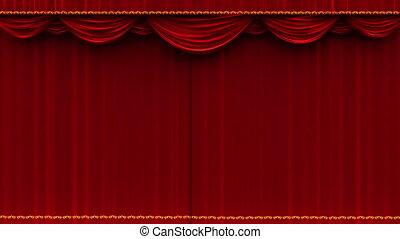 teatr, kurtyna, otwiera, -, alfa, kamień
