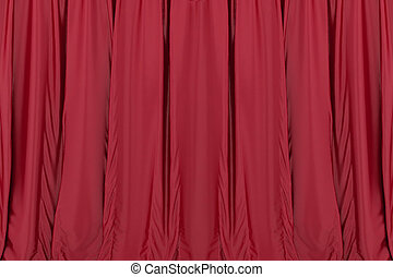 teatr, kurtyna, tło, czerwony