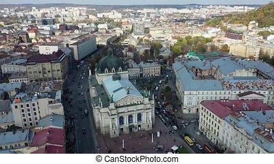 teatr, opera, antena, ukraina, lviv, prospekt, center., ...