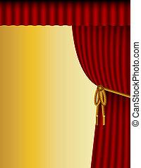 teatr, tło