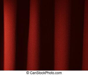 teatr, wizerunek, -, tło, kurtyna, czerwony