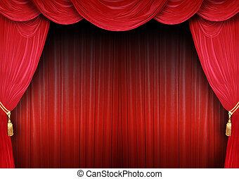 teatr, zasłona, rusztowanie