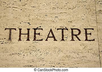 teatr, znak