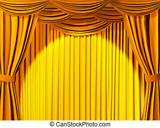 teatral, cortina