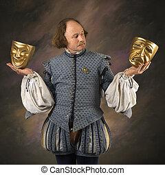teatral, shakespeare, masks.