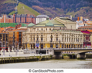 The Teatro Arriaga - an opera house on Plaza de Arriaga in Bilbao, Biscay, Basque Country, Spain