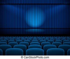 teatro, corredor