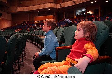 teatro, crianças