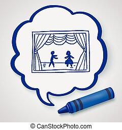 teatro, doodle