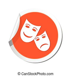 teatro, icon., vetorial, ilustração
