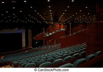 teatro, interior.