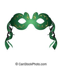 teatro, máscara del carnaval, aislado, realista, o