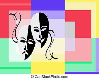 teatro, maschere