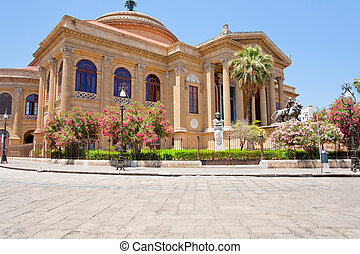 Teatro Massimo - opera house on the Piazza Verdi in Palermo...