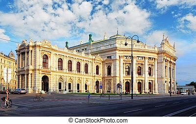 teatro, nacional, -, burgtheater, austríaco, viena