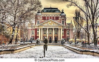 teatro, nacional, sofia, -, vazov, ivan, bulgaria