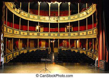 teatro, orquesta