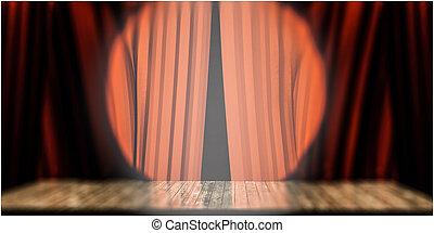 teatro, palcoscenico
