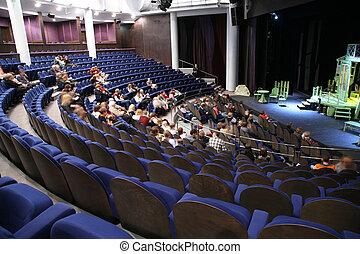teatro, pessoas