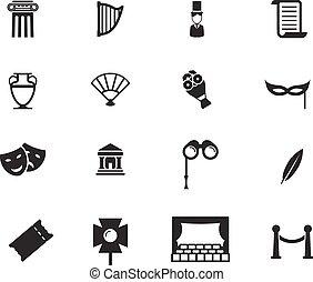 teatro, simplesmente, ícones