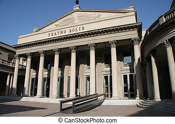 Teatro Solis, the famous opera building in Montevideo, capital of Uruguay