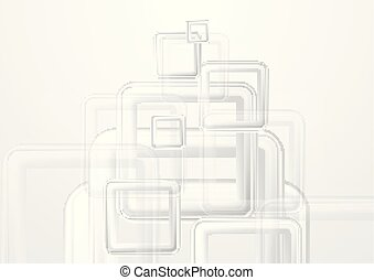 Tech abstract background with grey squares