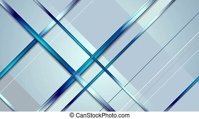 Tech abstract light blue stripes video animation