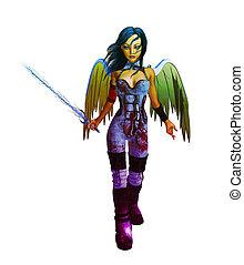 Tech Angel - Tech angel holding a sword