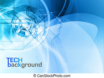 tech background - blue abstract tech vector background