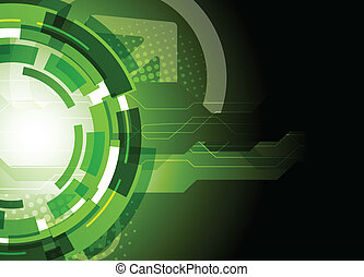 Tech background - Bright tech background in dark green color