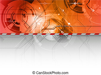 tech background in the red color