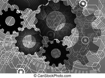 tech background - Tech background,Abstract Background