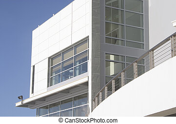 A new metal and glass tech building.