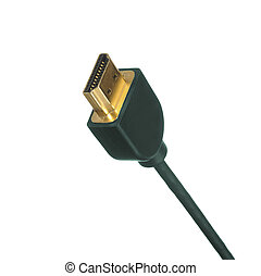 tech cable with plug isolated on a white background