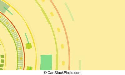 Tech colorful retro abstract gear video animation - Tech...
