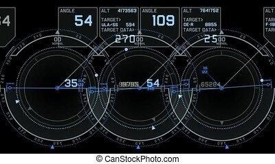 tech computer software panel,Radar GPS navigation screen...