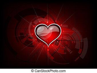 tech, coração