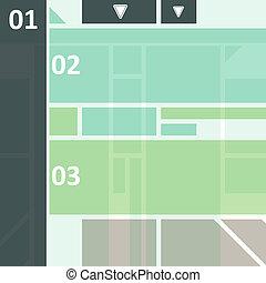 tech elevado, desenho, infographics