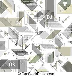 tech elevado, desenho, para, infographics.