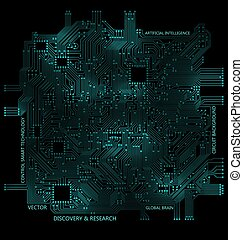 tech elevado, tábua circuito, tecnologia, computador, fundo