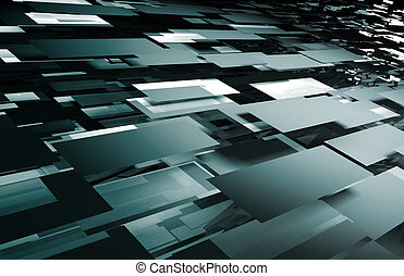 Tech Futuristic Abstract Background as a Art