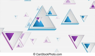 Tech geometric triangles abstract corporate motion backgroud. Video animation Ultra HD 4K 3840x2160