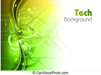 tech gradient - tech background with the green and wite...