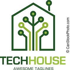tech house logo concept