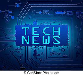 Tech news concept.