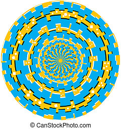 Tech Ring Trauma (motion illusion) - Tech rings rotate, ...