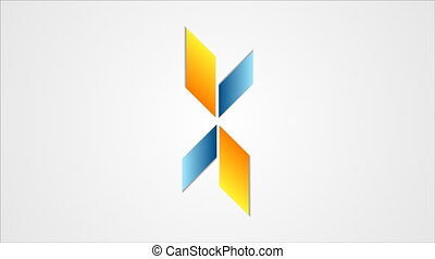 Tech star emblem logo video animation